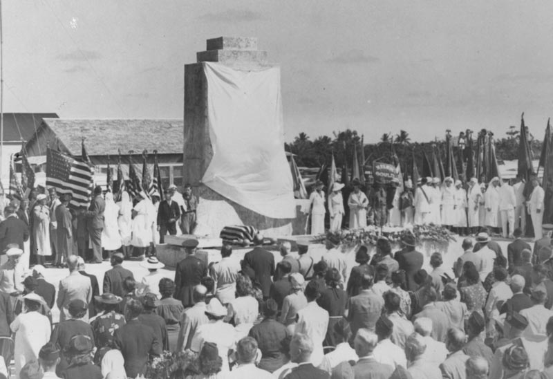 Monument waiting to be unveiled