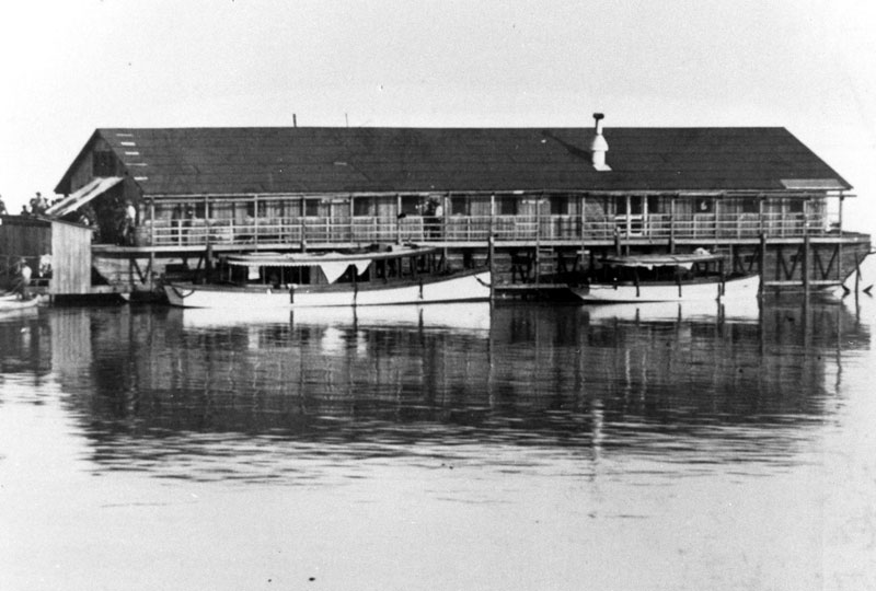 Example of houseboat used for railroad workers